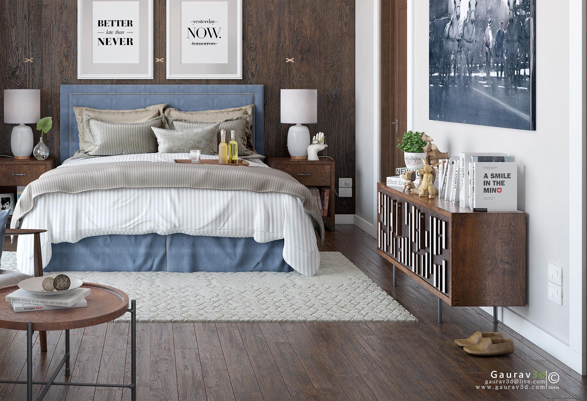 Bedroom Set 01 Semi Traditional Style
